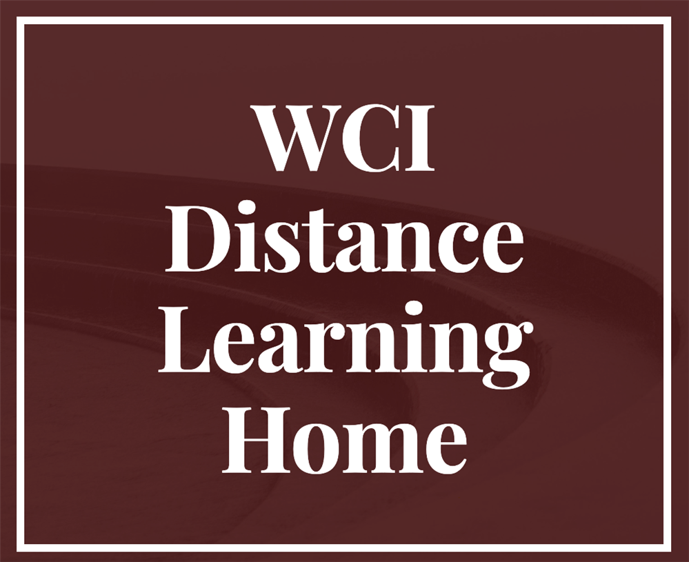 WCI Distance Learning Home Page